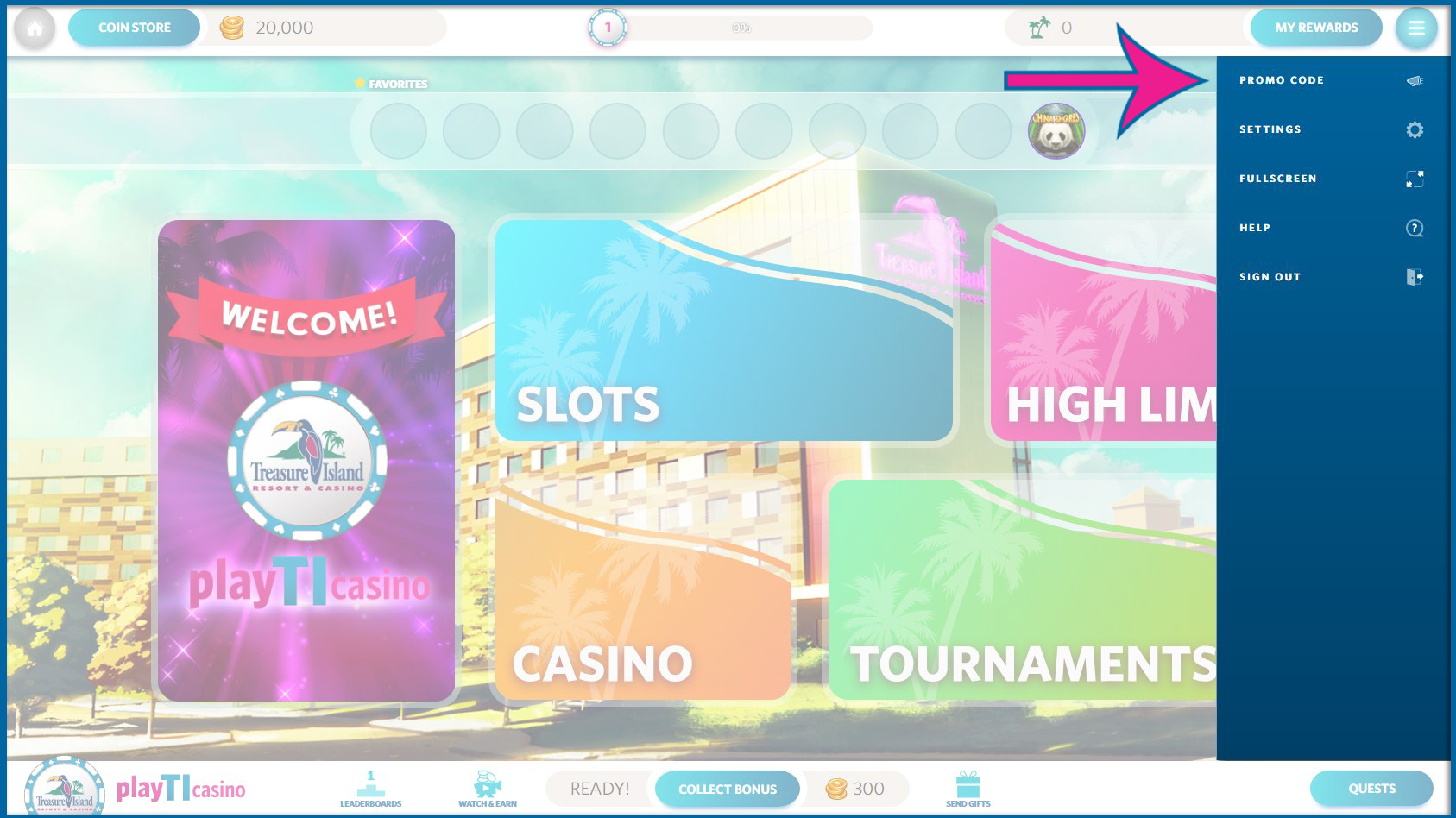 how to redeem a free promo code playticasino help center